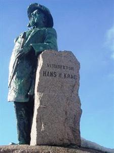 Hans Hagerup Krag (1829-97), veidirektør fra 1874 til 1903, holdt i dt lengste på Vagge som anløpssted for dampskipet. Foto lastet ned fra